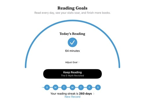 Apple Books Reading Goals
