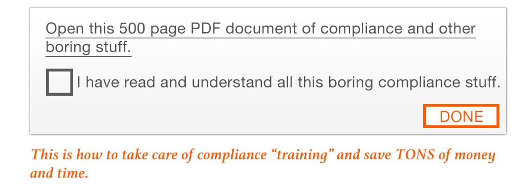 Boring Compliance Training